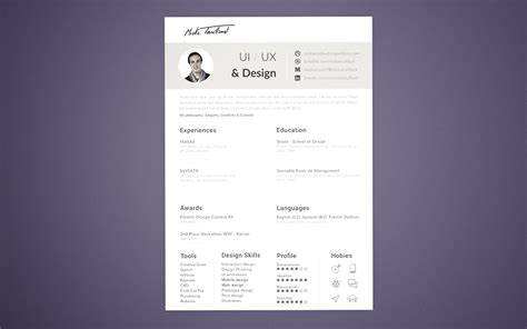 Ui Designer Resume Template by 5 Free Professional Clean Resume Templates A Graphic World