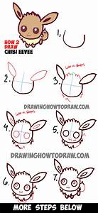 How to Draw Cute Baby Chibi Eevee from Pokemon Easy Step ...