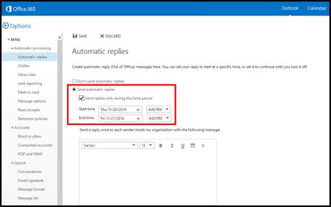 Office 365 Mail Auto Reply by How Do I Set Up Automatic Replies On The Office 365