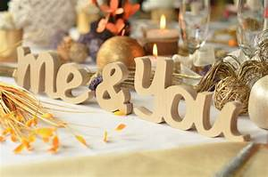 wedding table decor you me wooden letters me and you by With you me wooden letters