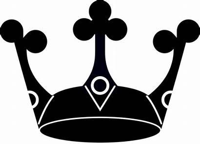 Crown Silhouette Simple King Clipart Crowns Tiara
