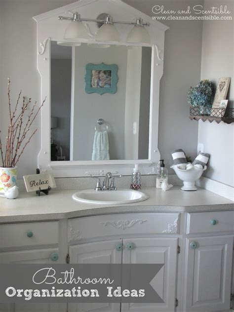 bathroom organization ideas clean  scentsible