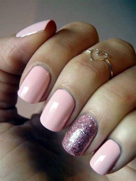 light pink glitter gel nails pictures   images