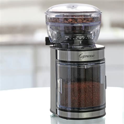 With a blade grinder it will be impossible to achieve a consistent grind. Capresso Ceramic Electric Burr Coffee Grinder & Reviews | Wayfair