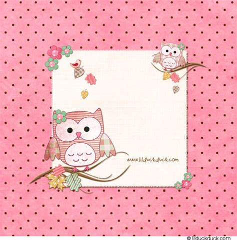 Brown Owl Baby Invitation  Pink Girl Hoots Flowers Whoo's