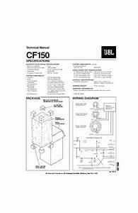 Jbl Cf 150 User Guide    Operation Manual