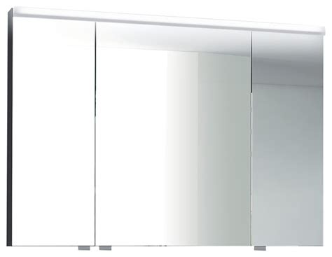 isa bagno iris 3 door mirrored cabinet with integrated led