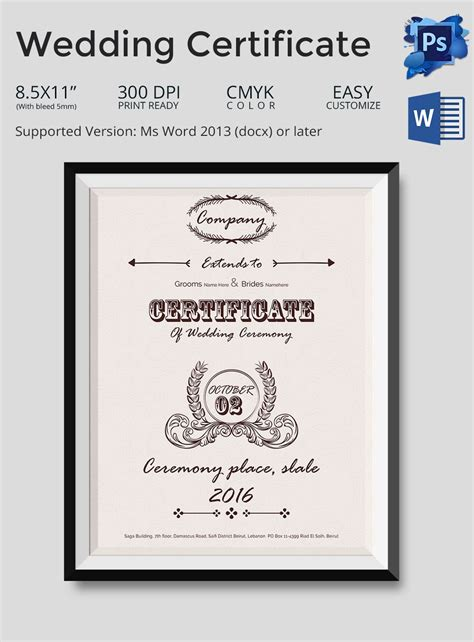 word certificate template    samples