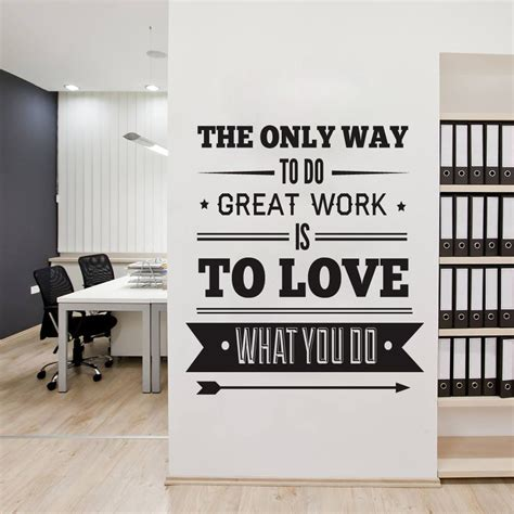 Decorating Ideas With Quotes by Office Decor Typography Inspirational Quote Wall