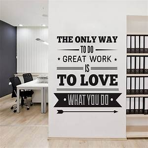 Office decor typography inspirational quote wall for Decorating office walls