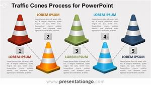 Traffic Cones Process For Powerpoint