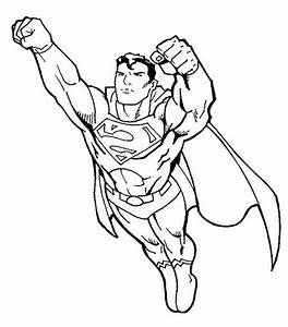 Superman Fly Coloring Page | Coloring pages to print ...