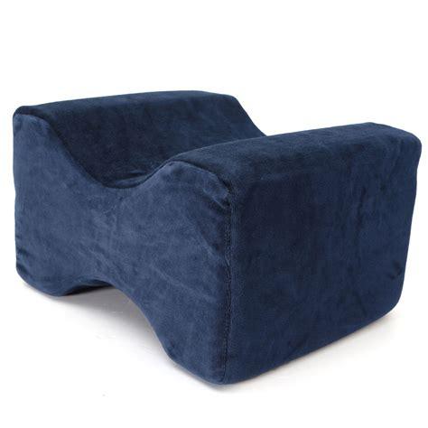 knee wedge pillow contoured memory foam knee leg foot pillow cover support