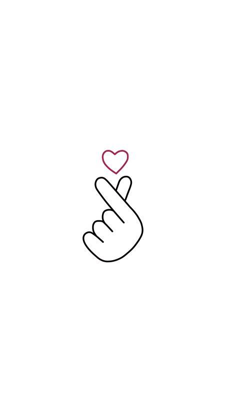 finger heart, love, korea, kpop, korean, culture, friends, illustration, tshirt, wall art, print, minima… | Friends illustration, Mini drawings
