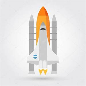 Space shuttle vector icon — Stock Vector © marnikus #98539844