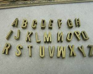metal letter charms etsy With metal letters for jewelry making