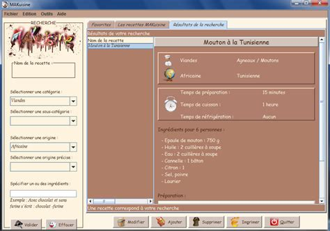 logiciel de cuisine 3 logiciels gratuits de recette de cuisine à telecharger