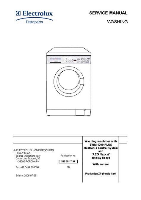 electrolux ewmplus aeg nexxxt service manual  schematics eeprom repair info