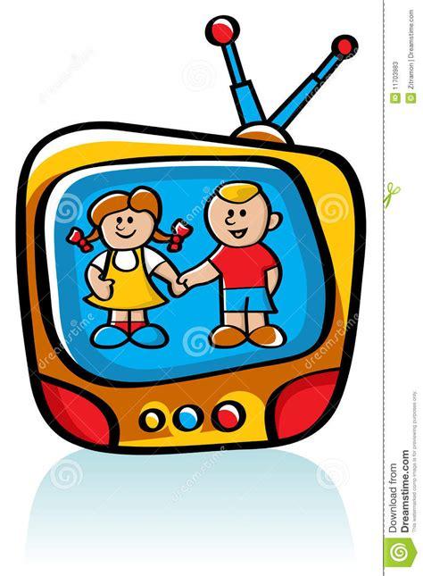Kids On Tv Stock Vector Illustration Of Show, Screen