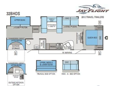 2012 Jayco 5th Wheel Floor Plans by 2012 Jayco Flight 32bhds Travel Trailer Tulsa Ok Rv