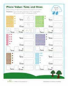 worksheets on place value for grade 1 tens and ones worksheet education