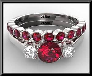 ruby diamond wedding ring set vidar jewelry unique With diamond and ruby wedding ring sets