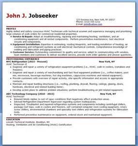 Hvac Resume Templates Free by Hvac Technician Resume Sle Hvac Resume And Resume Design Template