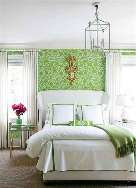 green floral bedroom  wallpaper theme