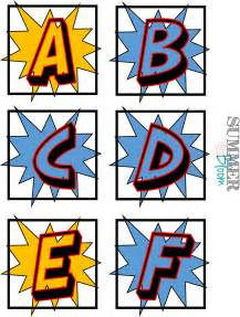 Superhero Word Wall Alphabet Letters