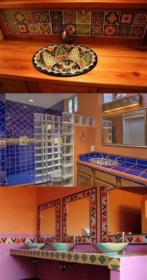 decorate  bathroom  mexican style interior design