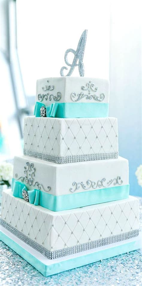 tiffany blue cakes ideas  pinterest turquoise