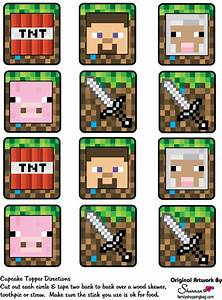 Minecraft Printables - Cupcake Toppers | Minecraft ...