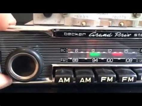 chromelondon becker grand prix us stereo radio with and full mp3 connectivity youtube