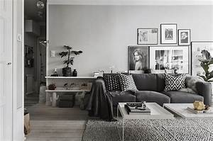 awesome deco salon gris et blanc pictures design trends With idee deco salon cocooning