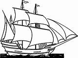 Ship Clip Sailing Cliparts Boat Drawing Ships Sailboat Cartoon Clipper Coloring Painting Pages sketch template