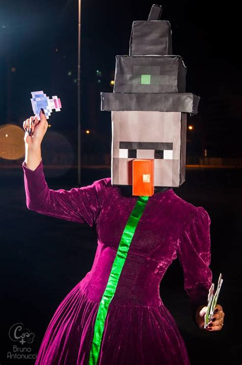 cosplayer de bruxa  minecraft mundo cosplayer