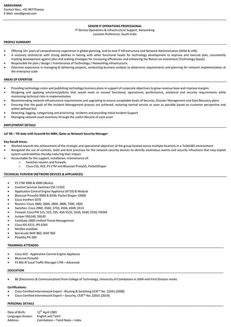 resume format for freshers networking and hardware