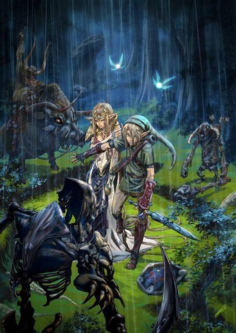 Intense Legend Of Zelda Twilight Princess Artwork The