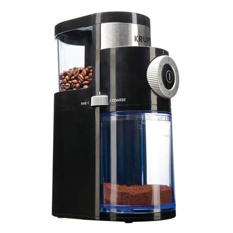 You can use it for everything from turkish coffee and espresso to pour over and french press. Krups Flat Burr Coffee Grinder-GX500050 - The Home Depot