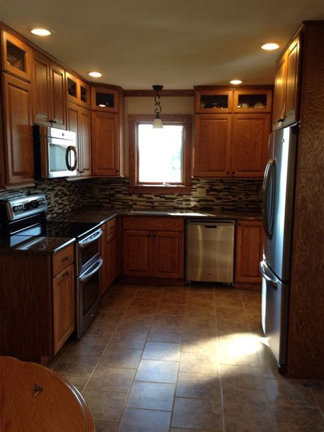 Beautiful oak cabinets with glass top for display and