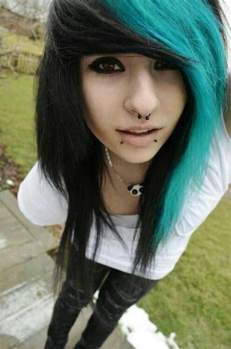Hairstyle Emo Punk Rock Girl Style Black