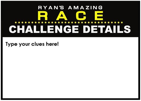 amazing race party supplies  printables including