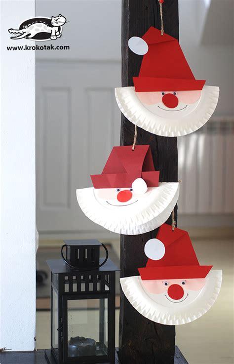 krokotak   santa paper plate