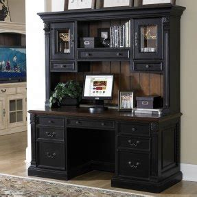 black home office desk with hutch riverside computer armoire foter