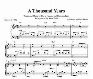 A Thousand Years (Christina Perri) Piano Sheet Music (PDF ...