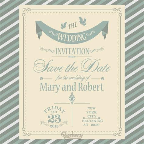Simple Wedding Invitation Free Vector In Adobe Illustrator