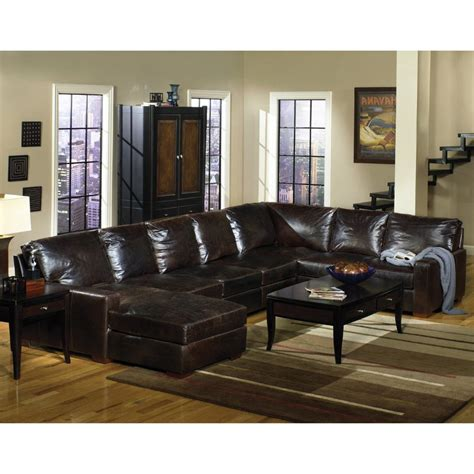 brompton leather collection brompton tobacco 3 leather sectional rc willey 1812