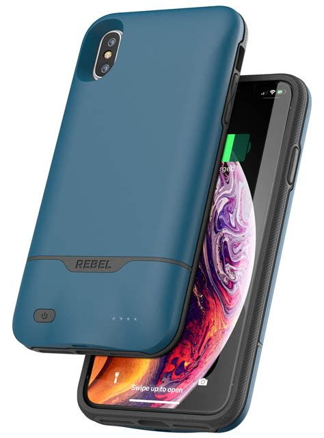 iphone xs max rebel power battery case blue encased