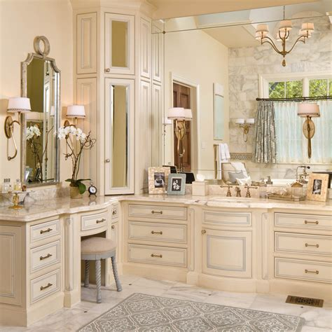 Built In Vanity Cabinets For Bathrooms by Bathroom Vanity Designs Bathroom Traditional With Built In
