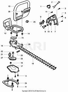 Poulan Ght220 Gas Hedge Trimmer Type 1  220 Ght Gas Hedge Trimmer Type 1 Parts Diagram For